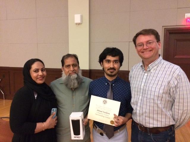 Ahmad Tashfeen with parents and Dr. Crick